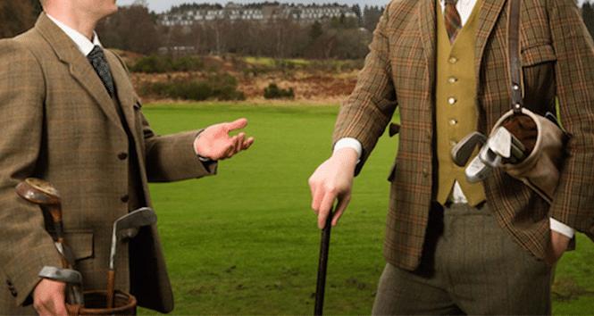 tweed de golfeur