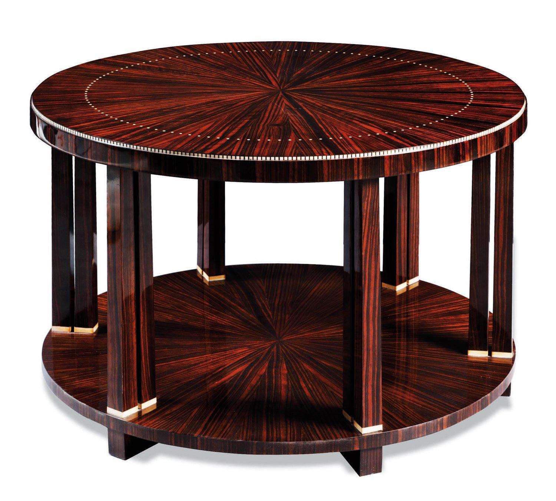 Rare table basse modèle « Douze colonnettes »