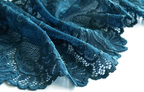dentelle bleu