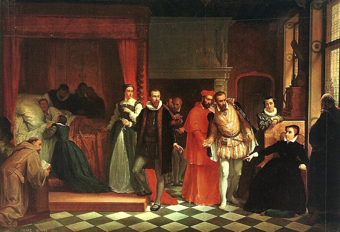 Mort de François II dans son lit baldaquin