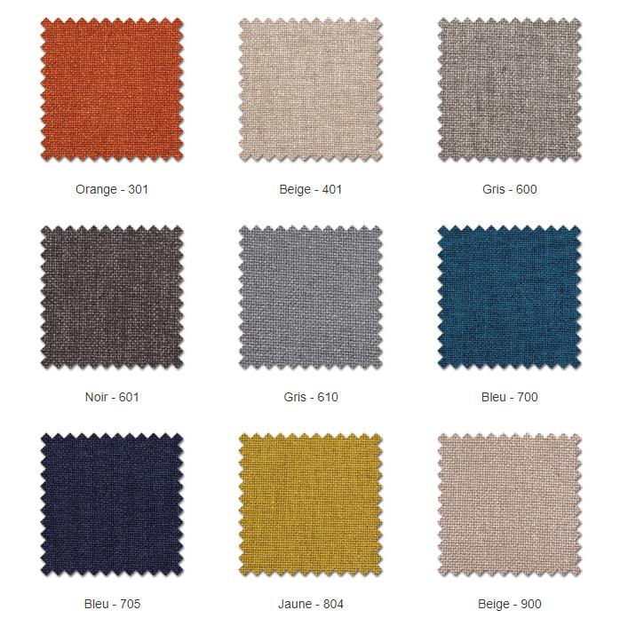 Les tissus en microfibre offrent de multiples coloris