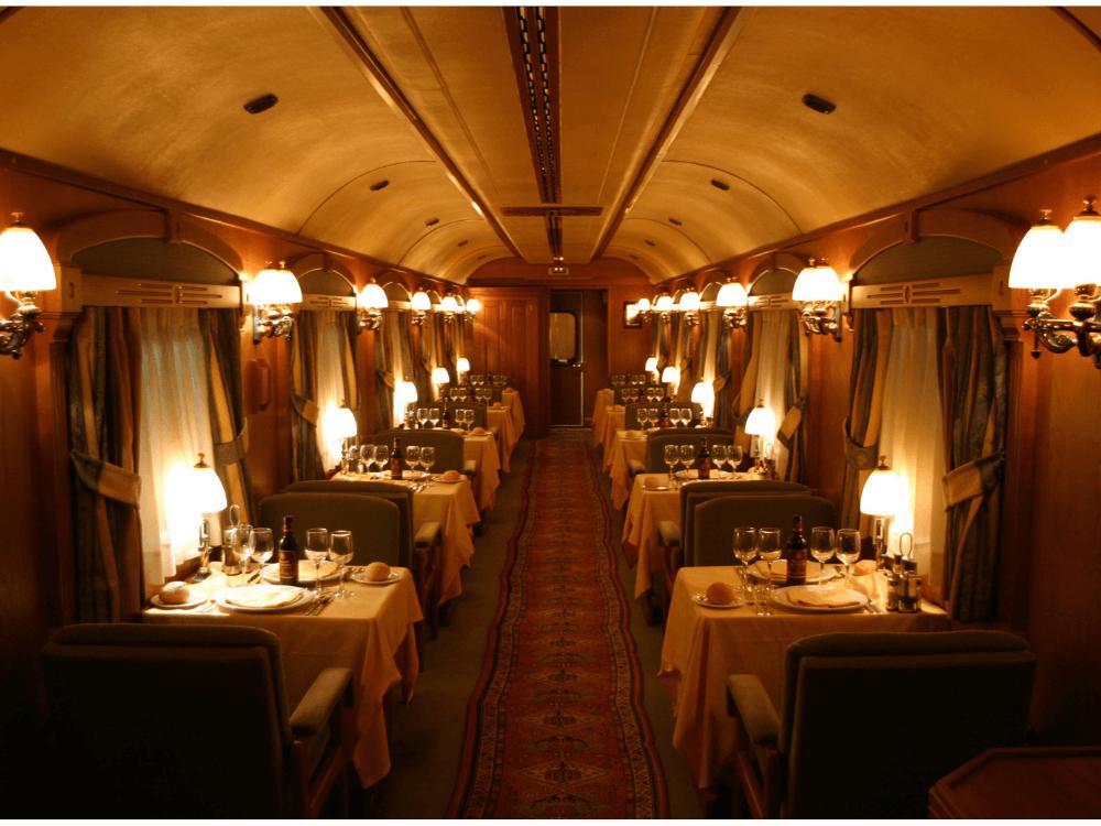 La cabine de restauration de l'orient express