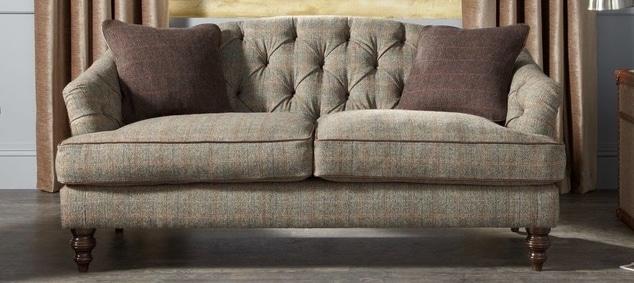 canapé en tissu tweed