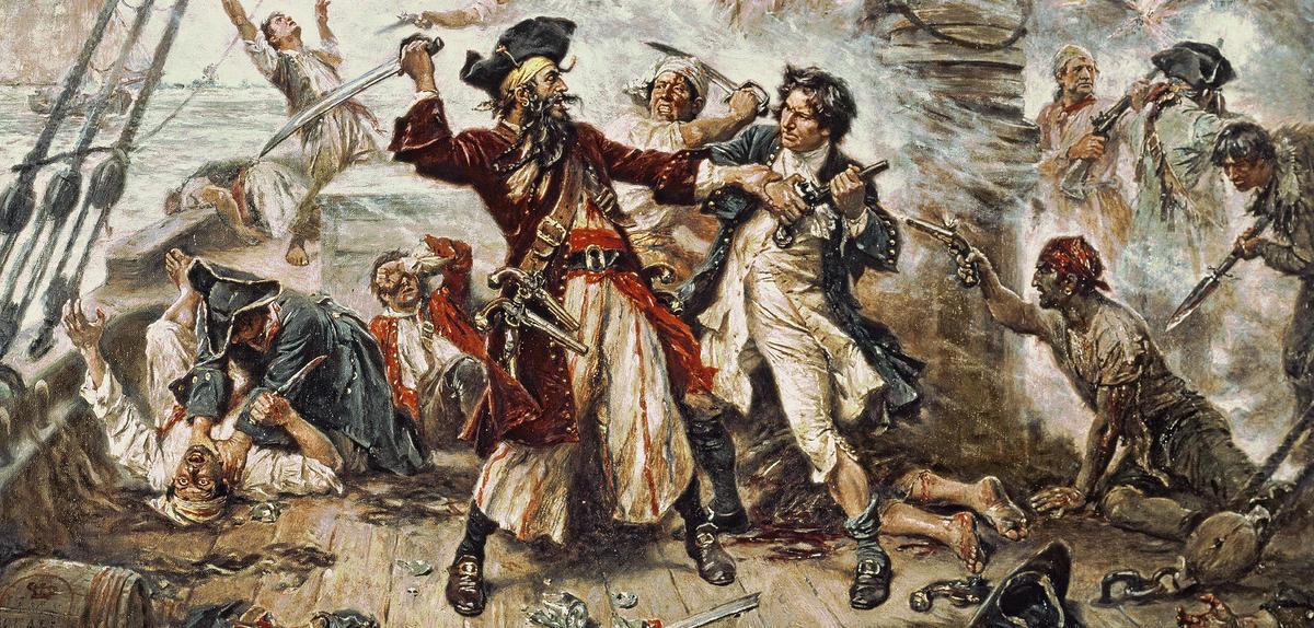Capture du pirate Barbe Noire