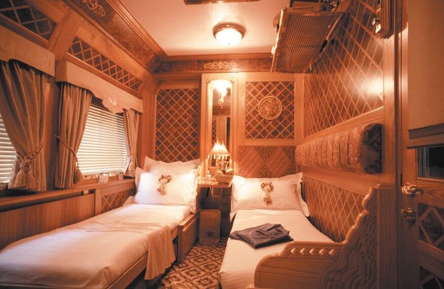 décoration d'une cabine de l'Orient-Express