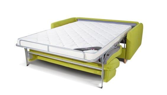 Le canapé convertible Soho vert ouvert