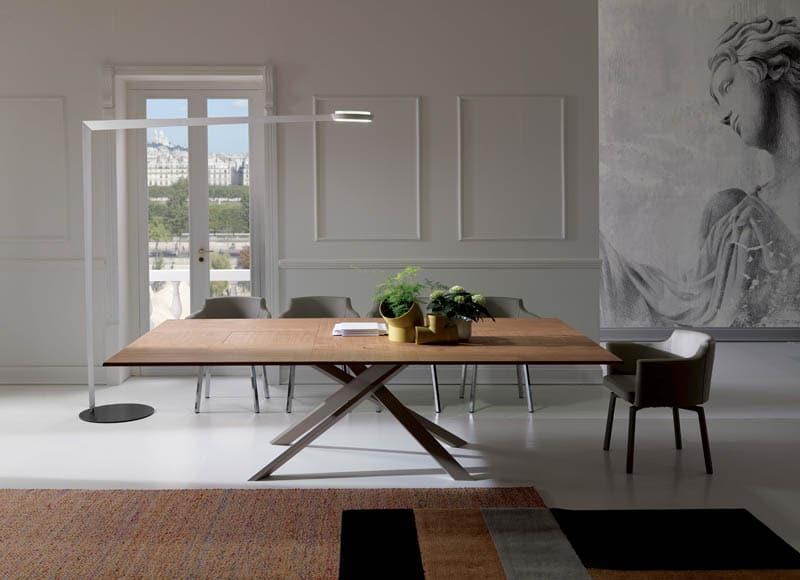 Table relevable extensible à allonges
