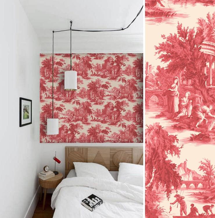 Chambre inspirée de la toile de Jouy