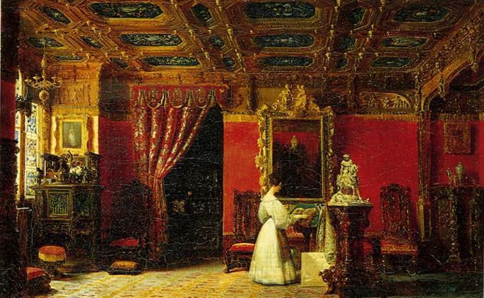 Peinture Atelier de La Princesse Mariee