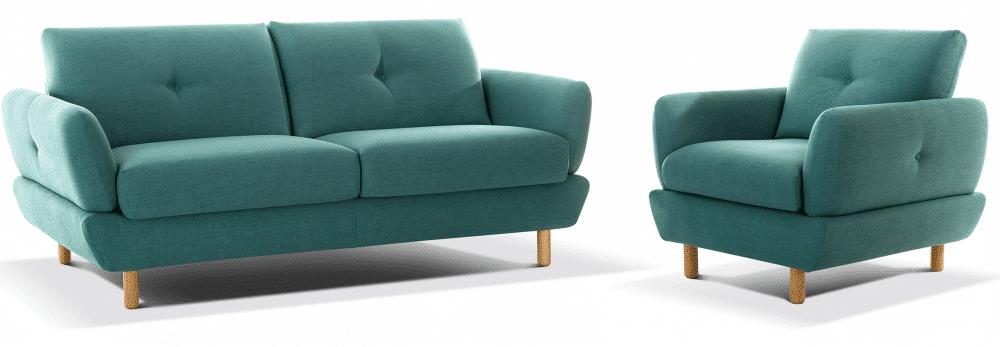 finn canapé lit scandinave et fauteuil width=