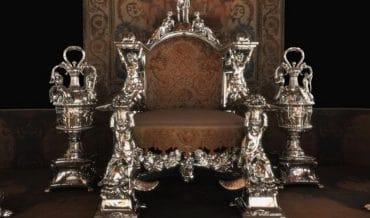 Mobilier d'argent à Versailles de Louis XIV