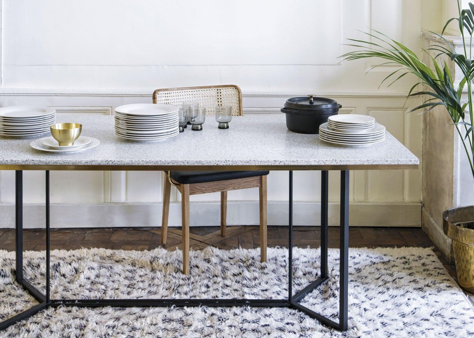 Table terrazzo déco contemporaine