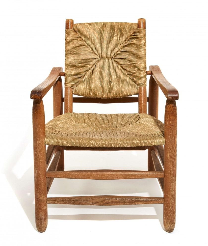 fauteuil de campagne en paille