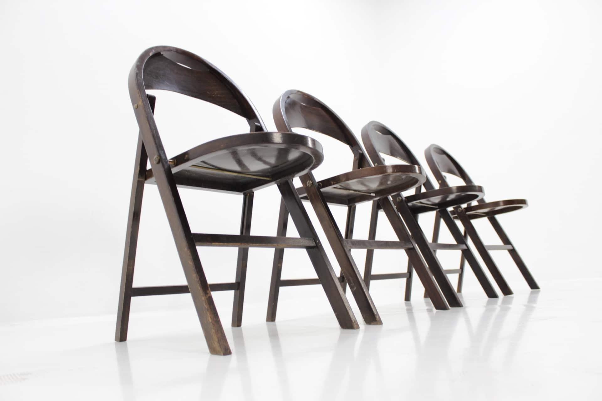 suite-de-4-chaises-à-repas-vintage-b751-pliantes-bauhaus-par-thonet
