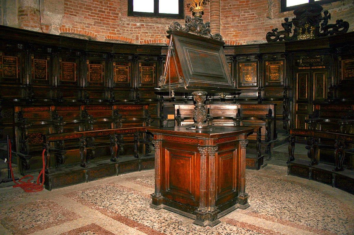 lutrin Milano San Simpliciano Coro 1588