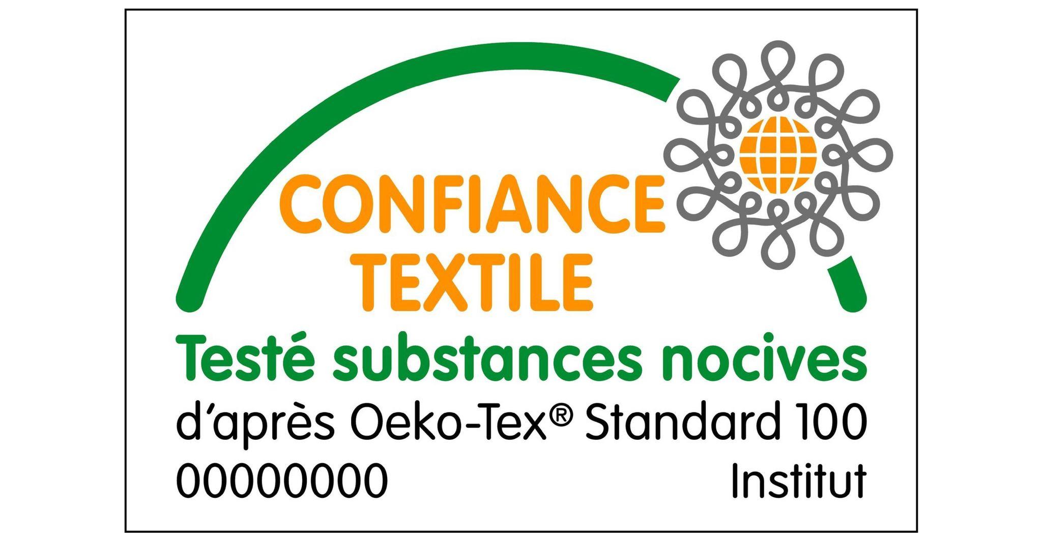 label Textile d'après Oeko-Tex standard 100