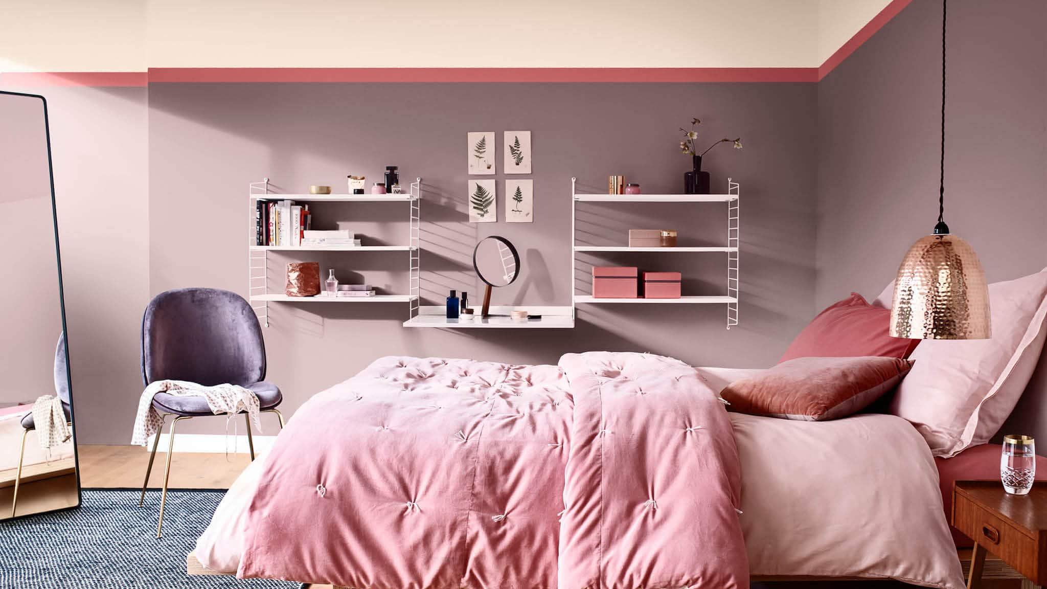 chambre rose cosy