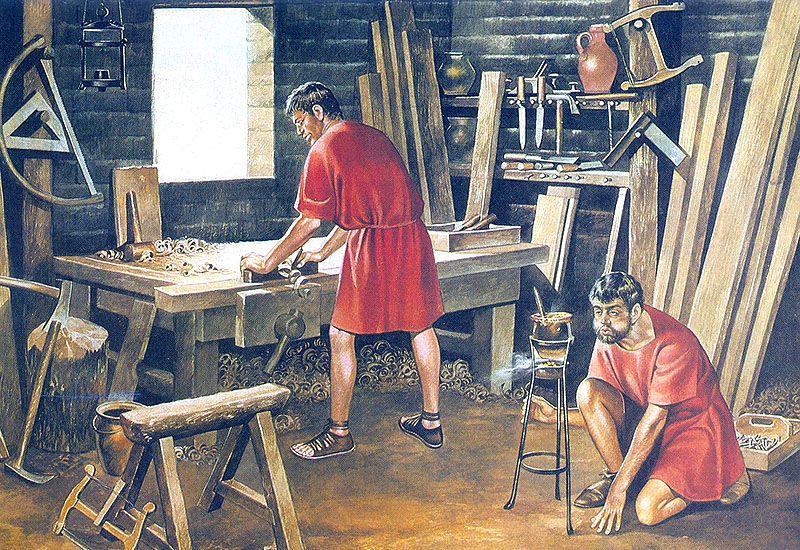 menuisier de la rome antique