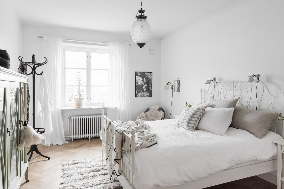 chambre white cosy