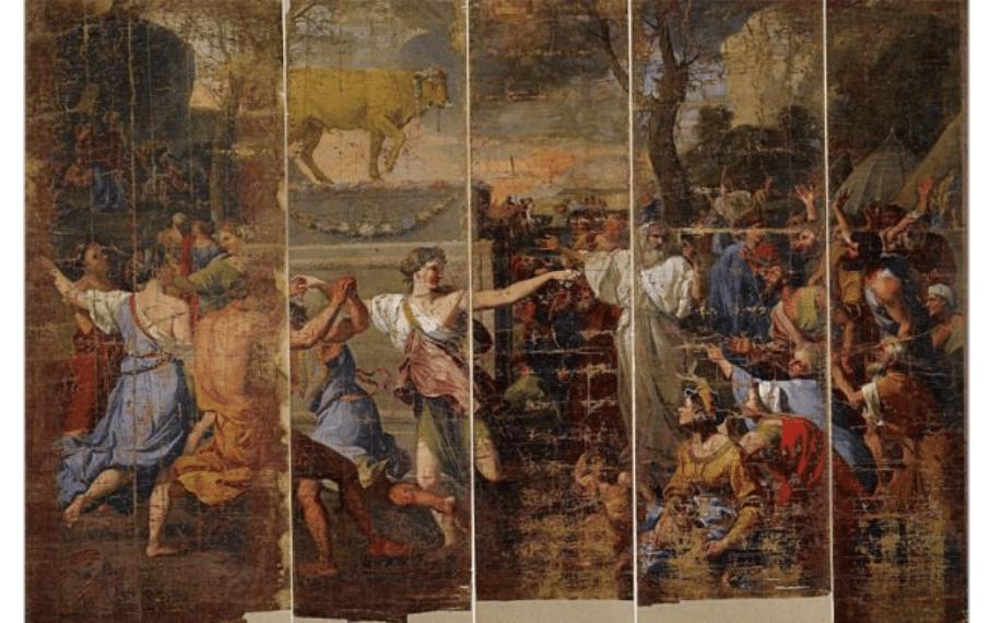 Cartons peints histoire de Moise