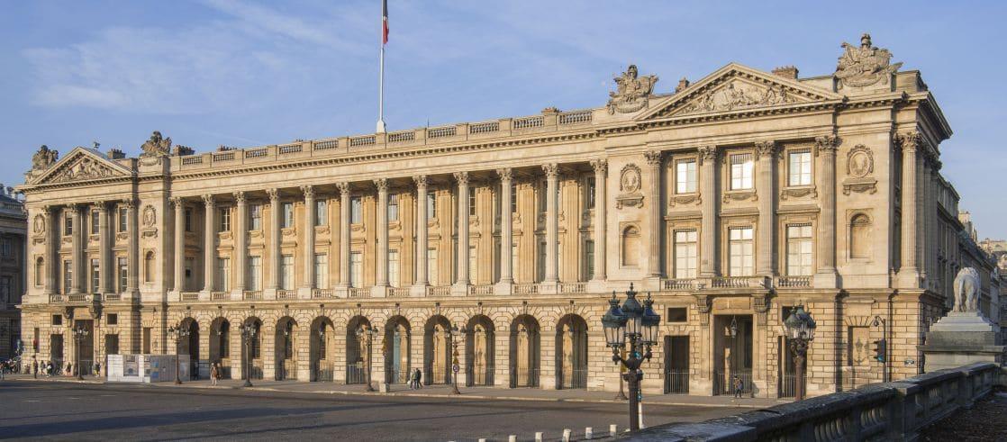 Hôtel de la Marine, façade sur la place de la Concorde