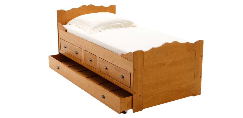 lit bateau en bois