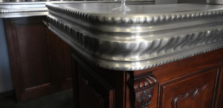 détails Zinc de bar